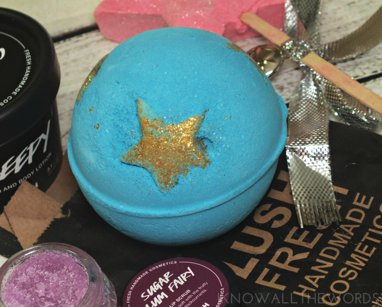 lush holiday 2016 shoot for the stars bath bomb