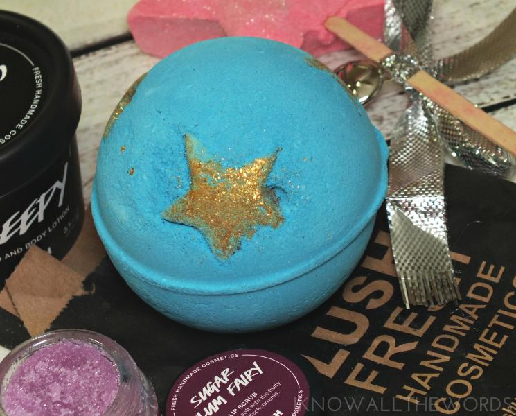 lush holiday 2016 shoot for the stars bath bomb