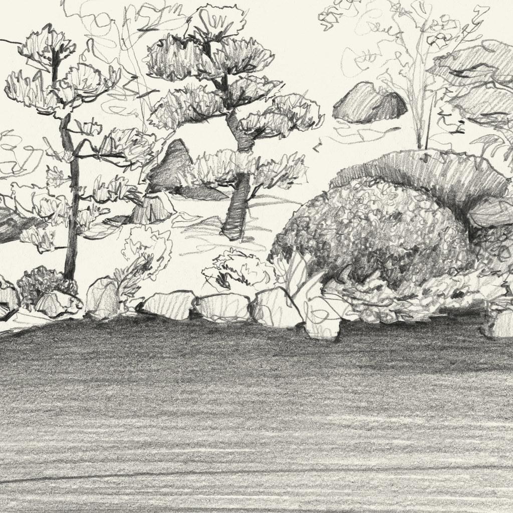 Portland Japanese Garden Sketch