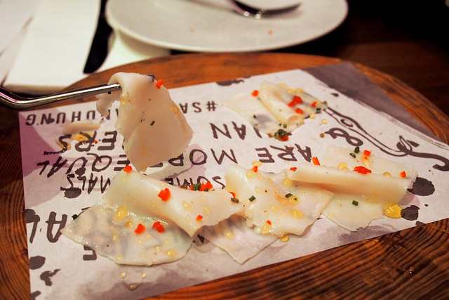 Lardo (truffle honey and chilli). Drew Nocente, Salted and Hung, Purvis Street, Singapore