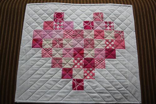 Scrappy Heart Mini Quilt