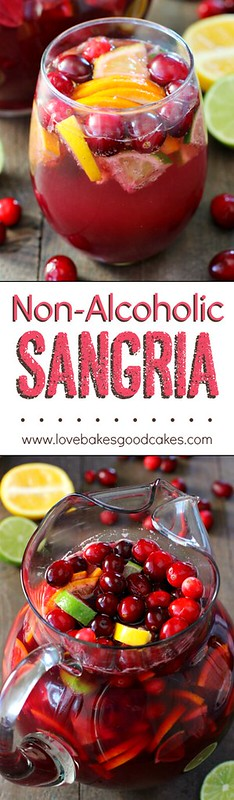Non-Alcoholic Sangria collage.