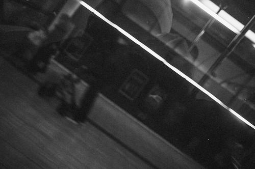 Crazy Man With Vintage Pentax Mirror Shot, Blurry Skyte, W