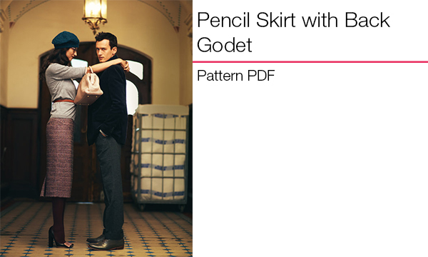 Pencil Skirt with Back Godet