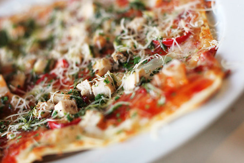 thai chicken pizza | thin, crisp, with sweet chili sauce ...