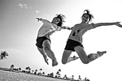 Ella and Christl Jump! | by kwanie
