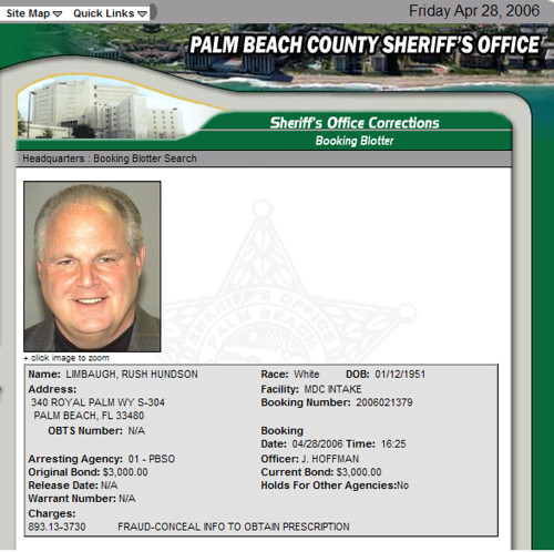 rush limbaugh busted | by scottobear