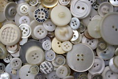 buttons, white | by chrisglass
