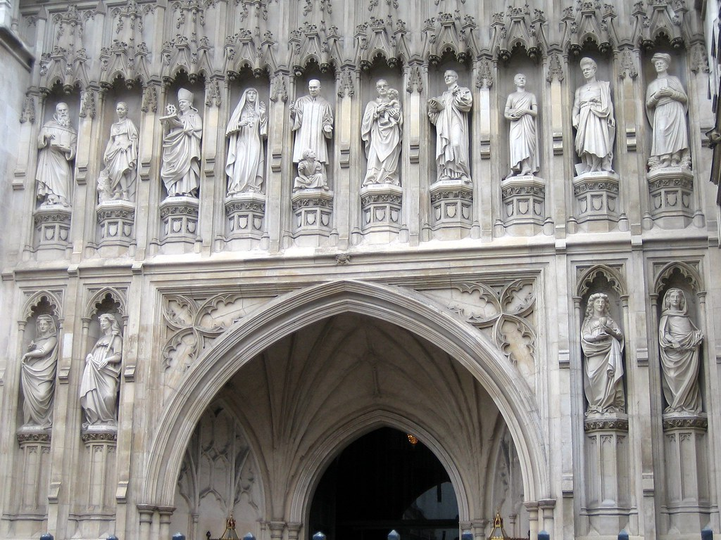 Statues Of Saints Front Entrance Westminster Abbey Flickr