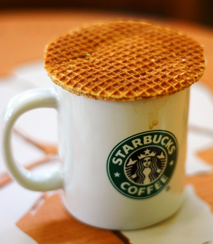Starbucks and caramel waffle | by Leonid Mamchenkov