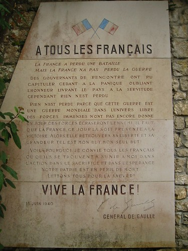 Plaque at the memorial for the Maquis de l'Ain and the resistance | by Victor Engmark