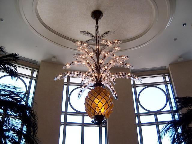 Palm tree chandelier inside the ultra swanky loews miami b palm tree chandelier by jenman palm tree chandelier by jenman aloadofball Images
