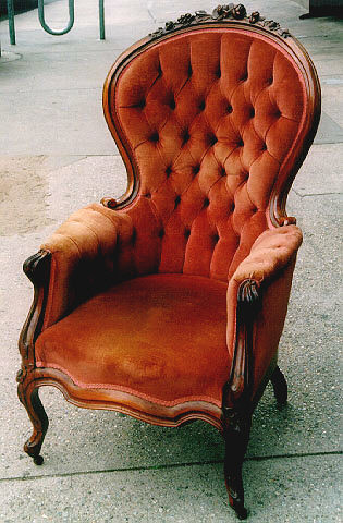 Victorian Chair Velvet Quot Gentleman S Chair Quot From About