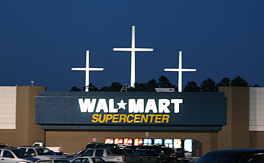 Jesus Loves Wal Mart Taken On My Way Out Of Louisiana Bato Flickr