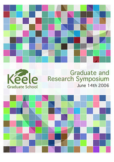 Research Symposium Program Cover | by eddequincey