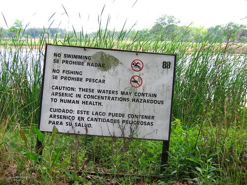 Arsenic lake bryan tx no swimming and no fishing due for Lake bryan fishing