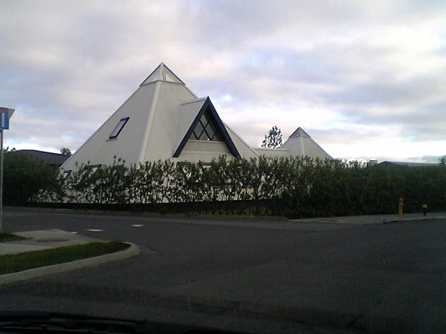 Pyramid House In Reykjavik While Trying To Find The