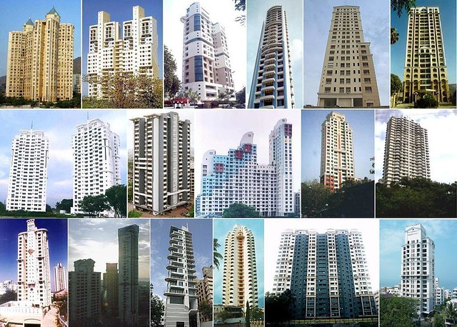 Mumbai Highrise Buildings Collage Iii Mumbai