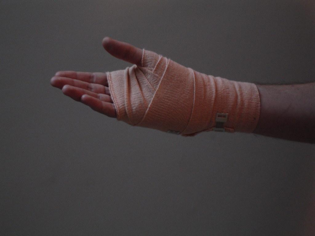 Bandaged Hand The Hand The Bandage Flickr
