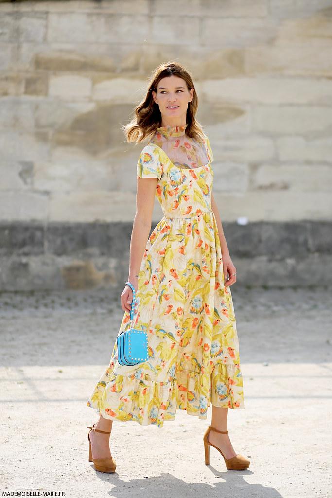 Hanneli Mustaparta at Paris fashion week