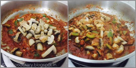 Kadai Mushroom Masala - step 3