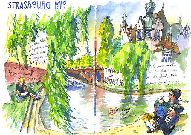 Strasbourg, au pied du Lycée des Pontonniers