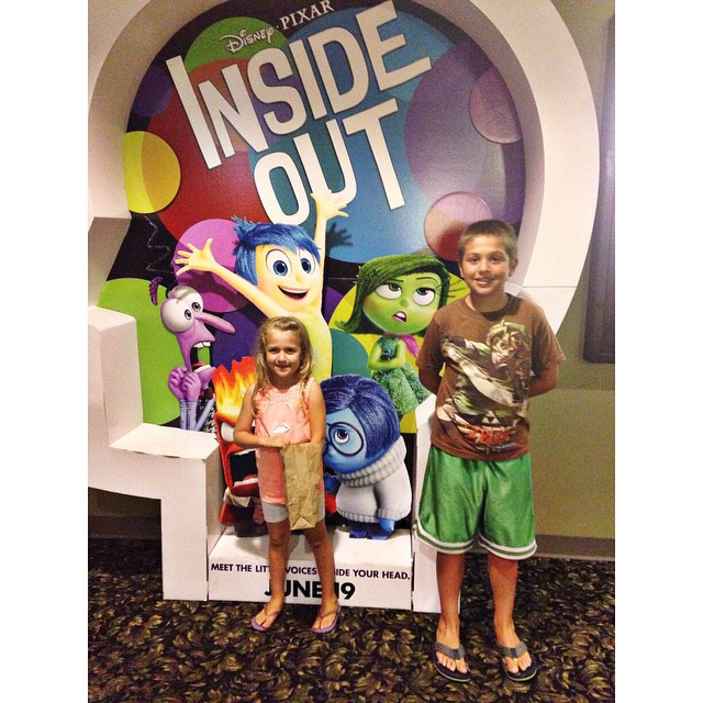Inside Out! Very good! 👍👍 Ethan declined to pose for this pic. He is nearly 11 and gets embarrassed by his Mom 😳
