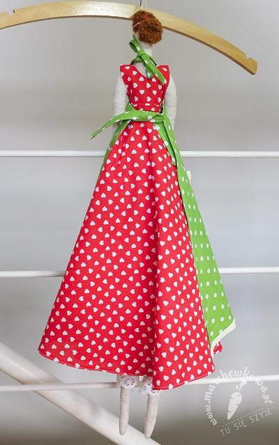 marchewkowa, blog, szycie, krawiectwo, sewing, vintage, retro, doll, Tilda, miniature, apron, dress, gift, prezent, handmade, diy