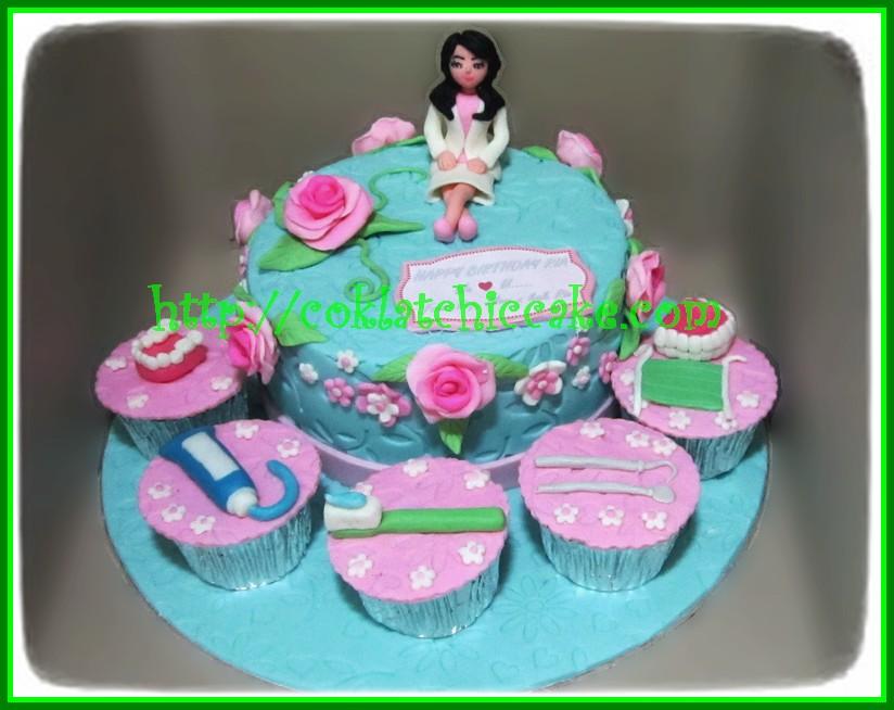Cake Dokter Gigi Dan Cupcake Dokter Gigi Ria Jual Kue Ulang Tahun