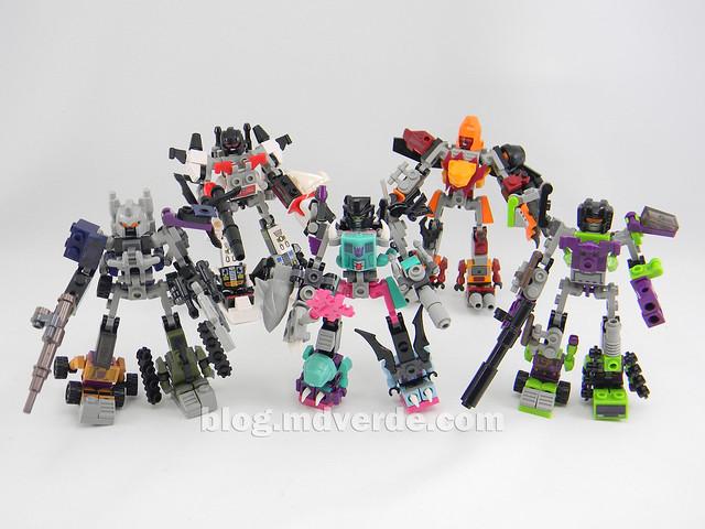 Transformers Piranacon Kre-O - modo combinado vs otros combiners