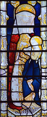 Holy Kinship: St Anne teaching the young Blessed Virgin to read (Clayton & Bell, 1973, copy of 15th Century glass at All Souls College, Oxford)