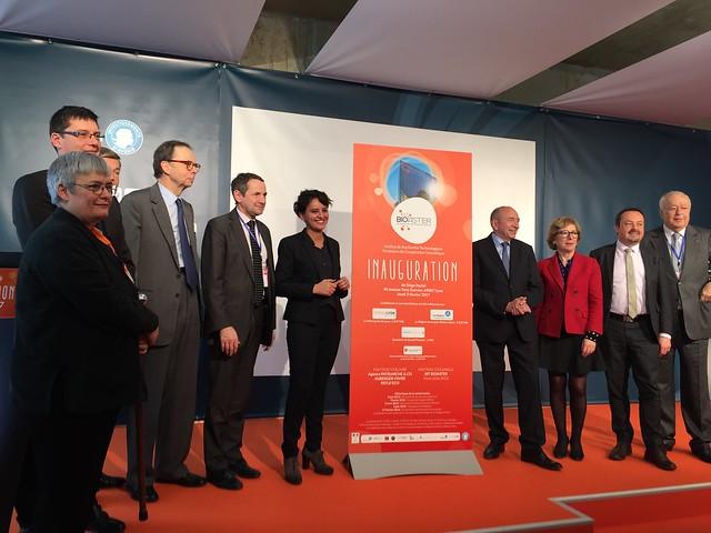 Inauguration de l'IRT Bioaster par Najat Vallaud-Belkacem et Thierry Mandon