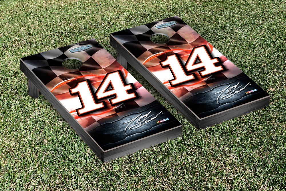 TONY STEWART #14 CORNHOLE GAME SET NIGHT LIGHT VERSION (1)