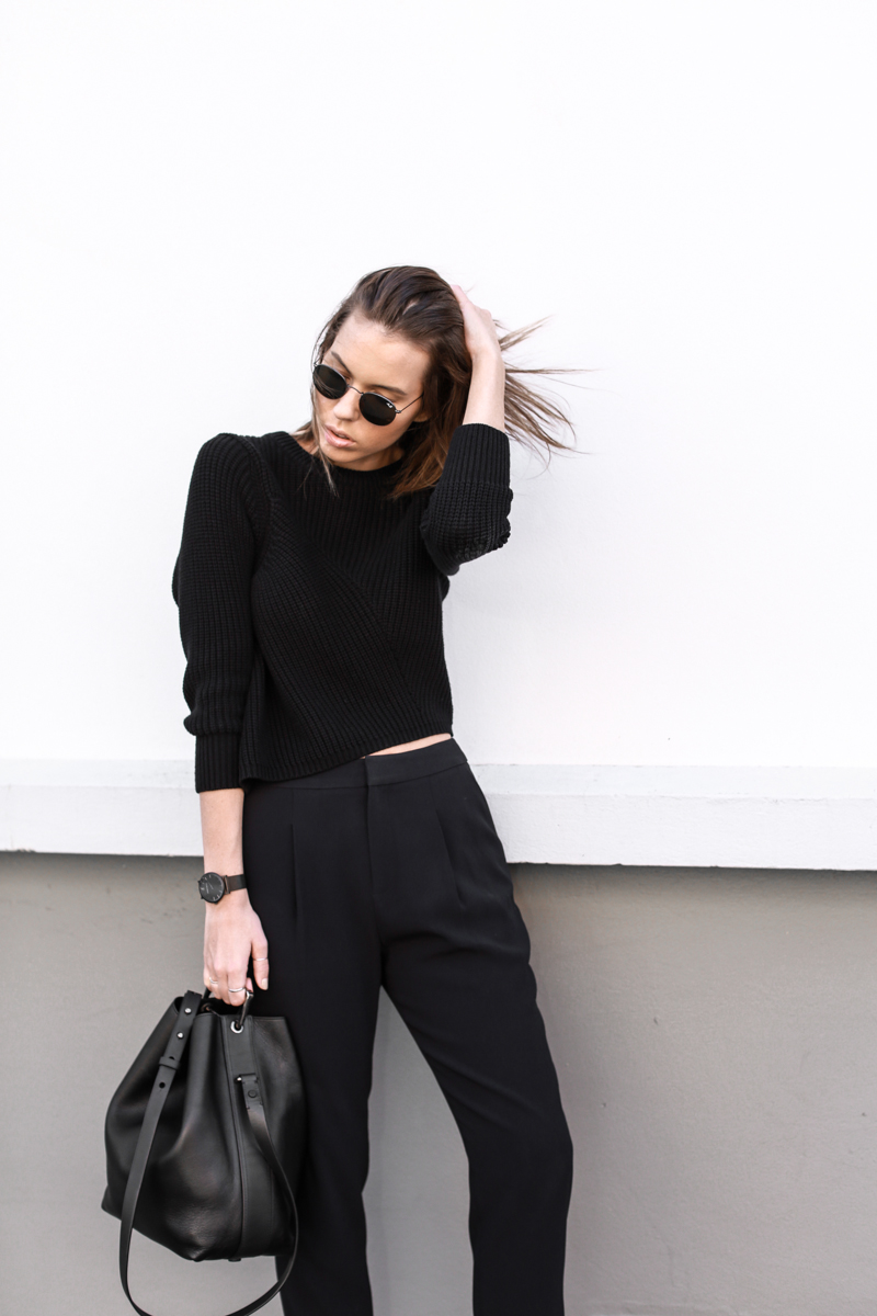 modern legacy, fashion blog, street style, SABA, man stye, black and navy, bucket bag (1 of 1)