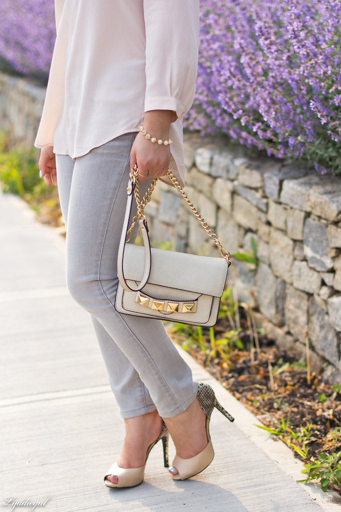 blush silk blouse, grey denim, studded bag-4.jpg