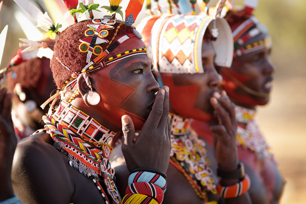 Kenya Samburu Warriors Moran Colorful Samburu