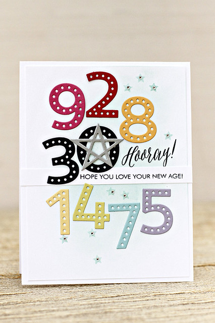 Sew Stylish Alphabet Birthday Card