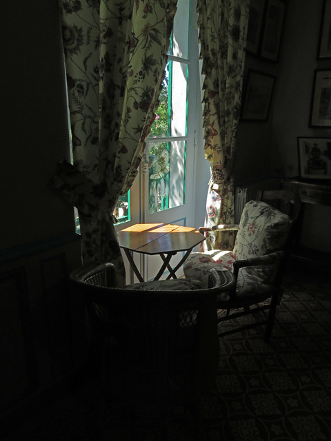 A window in Monet's house catching the afternoon light