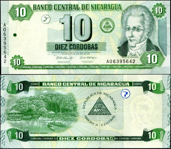 10 Córdobas Nikaragua 2002