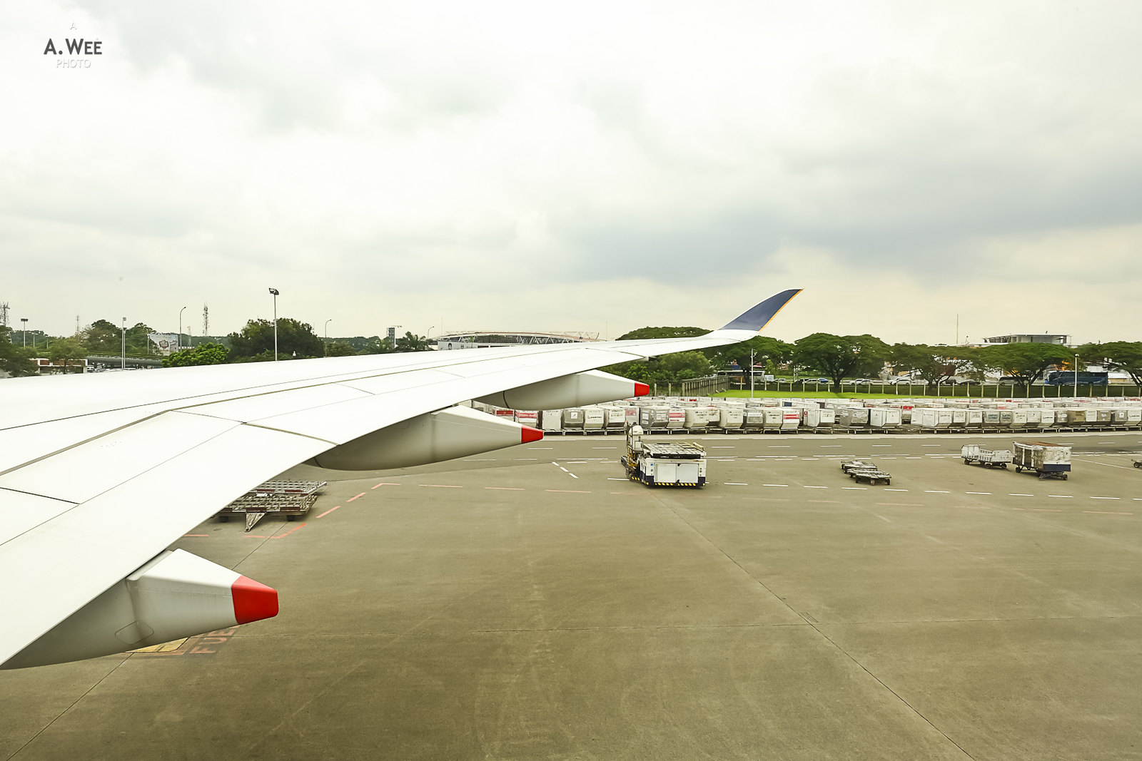 View of the A350 wing