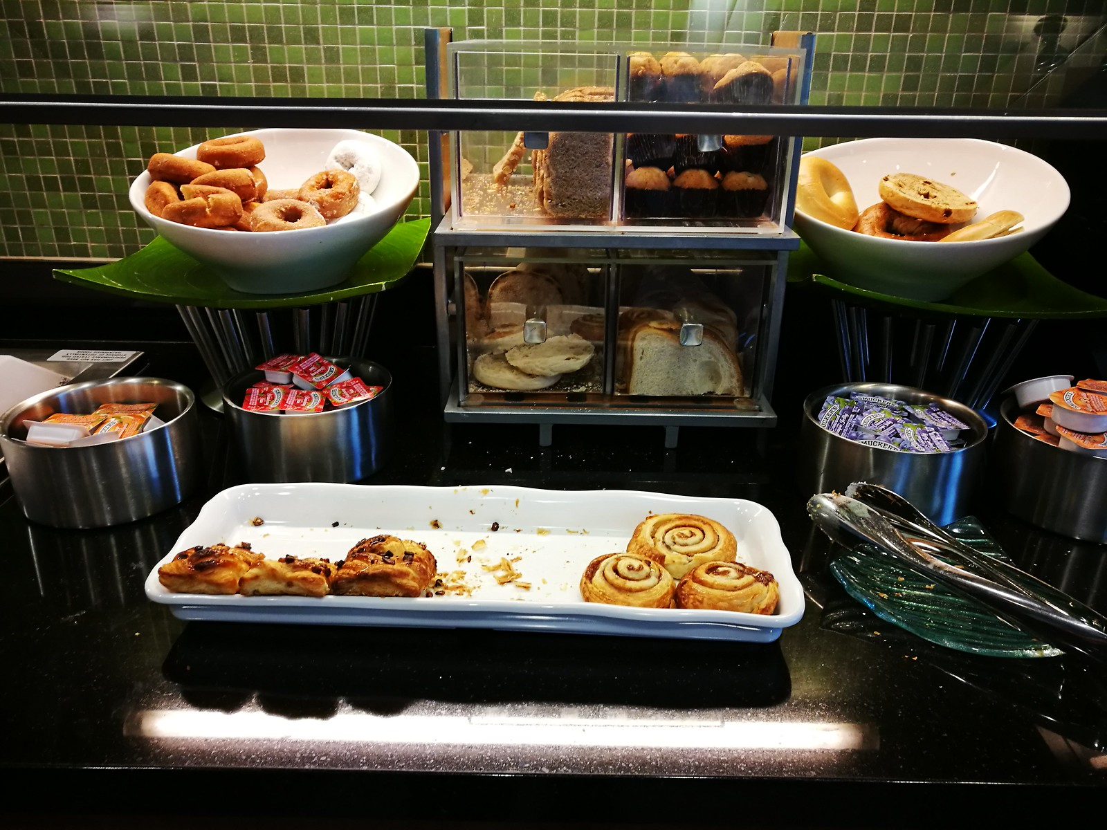 Pastries and toast