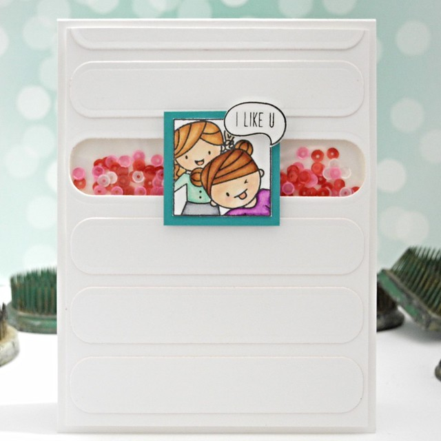 I Like U by Jennifer Ingle #mamaelephant #justjingle #simonsaysstamp #cards
