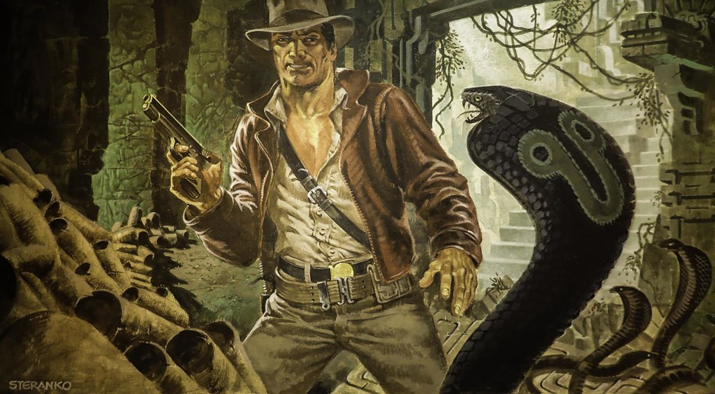 "Original concept art from ""Raiders of the Lost Ark"" 