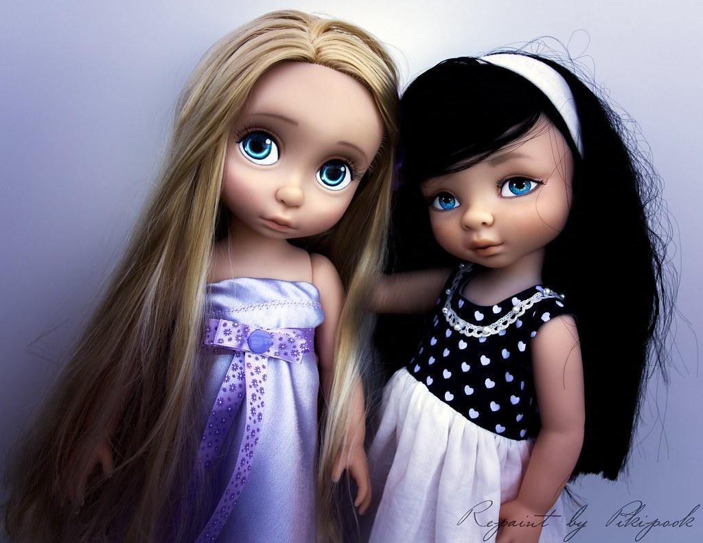 Repaint Ook Custom Animator Doll Rapunzel Animator S Colle