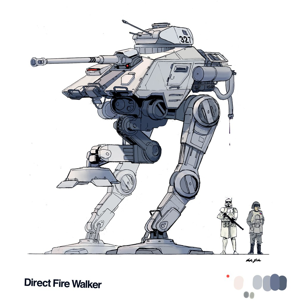 Direct fire walker a star wars walker based on the all for Direct flame