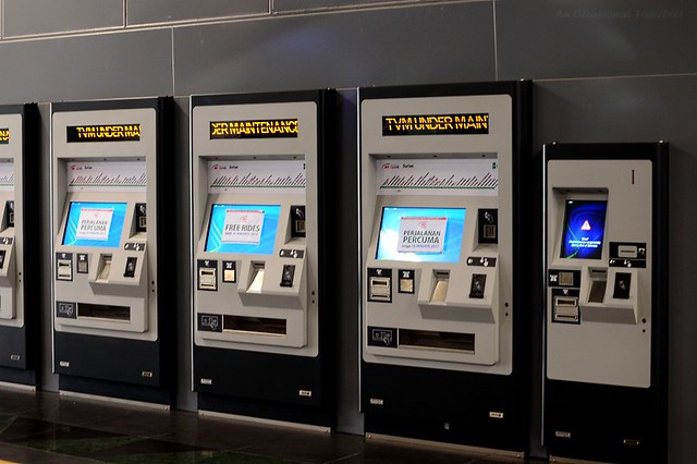 Ticket vending machines which accept cash and have stored value card top up facility