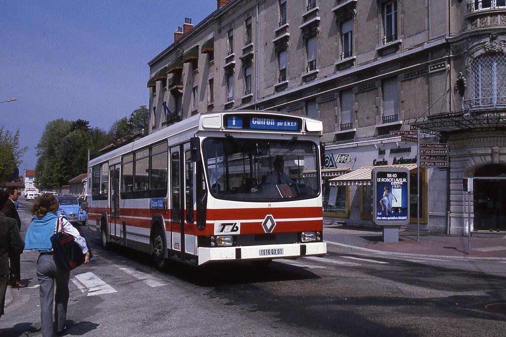 jhm 1985 0416 france bourg en bresse autobus renault p flickr. Black Bedroom Furniture Sets. Home Design Ideas