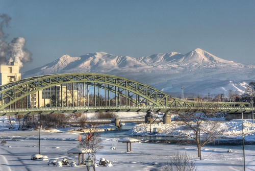 Asahibashi-Bridge, Asahikawa on JAN 08, 2017 vol02 (15)