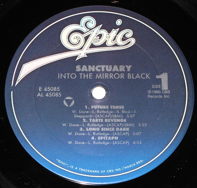 "SANCTUARY INTO THE MIRROR BLACK 12"" LP"