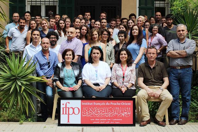 Stagiaires de langue arabe de l'Ifpo, session annuelle 2014-2015, Beyrouth